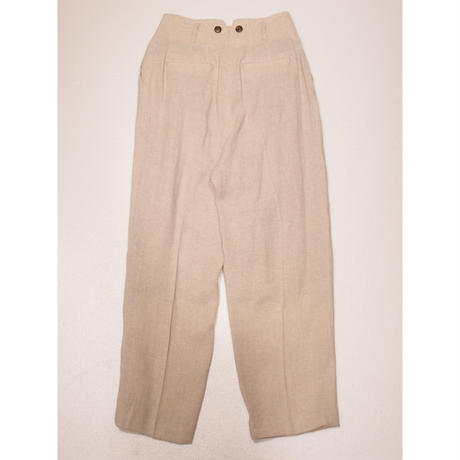 2101PT01  CLASSIC HERRINGBONE PANTS/beige