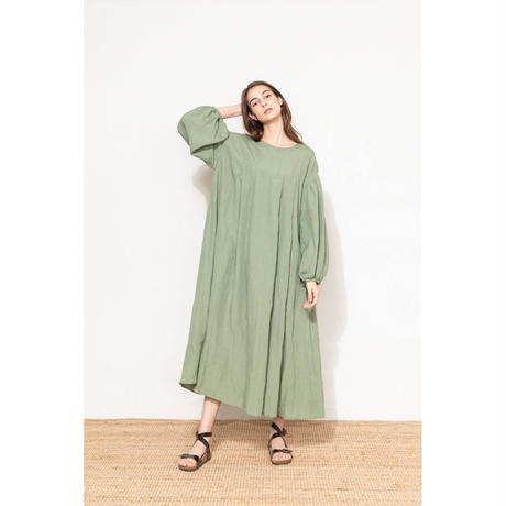 2101OP02 RAYON LINEN DRESS