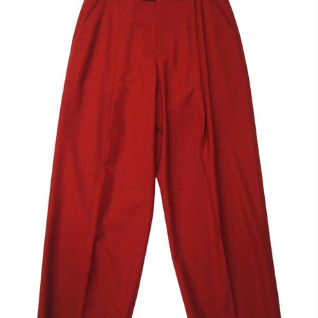 2103PT02 WASHABLE WOOL GURKHA DESIGN WIDE TROUSERS / red