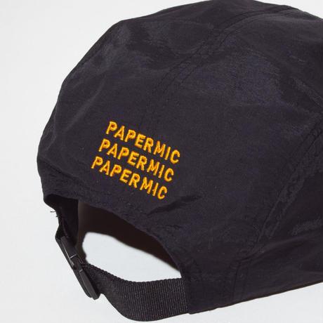 〈PAPERMIC〉CAMP CAP BLACK