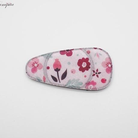 日本製 髪ピタ(KAMIPITA) 涙型  ちりめん柄  花柄