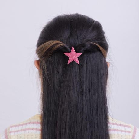 2020NEW Kamipita(髪ピタ)星、ハート  ラメ風(グリッター)(5*4.5cm)