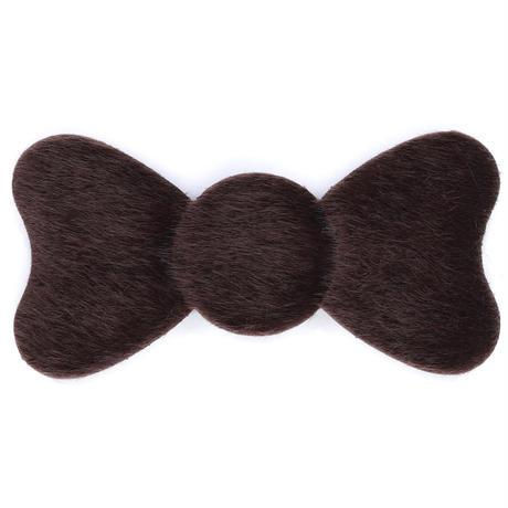日本製 髪ピタ(KAMIPITA) ミニリボン フェイクファー