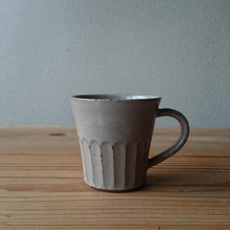 マグカップ  しのぎ  白釉