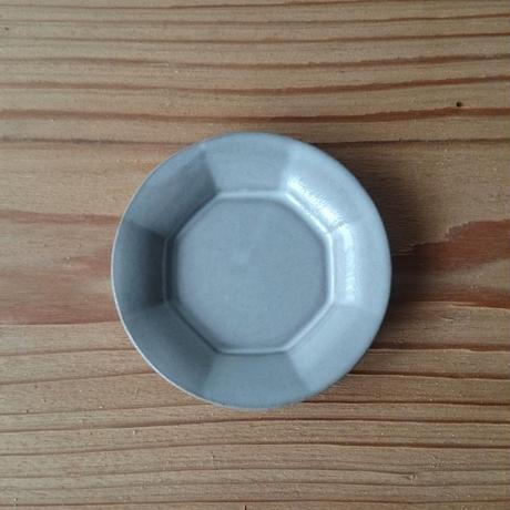 豆皿 輪花 白釉