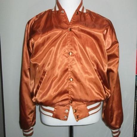 snoking USA 60-70年代 サテンジャンパー ♠ Men's Size XL 管R1-0182