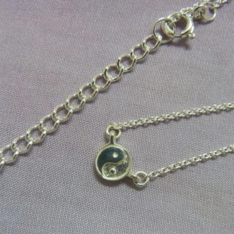 Silver yin - yang Necklace