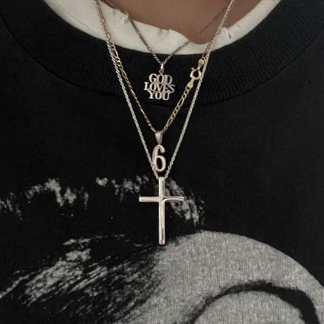 Silver Big Cross Top