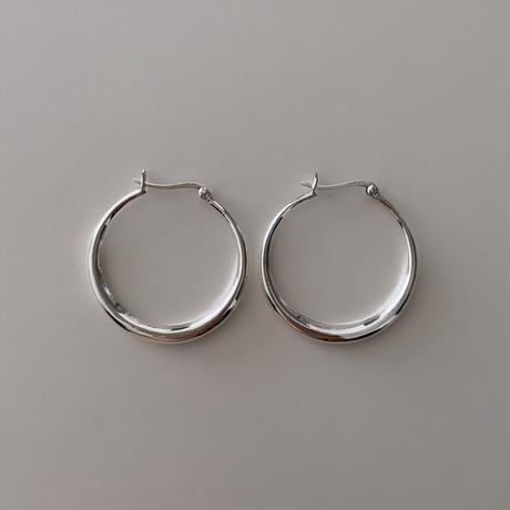 Silver Hoop Pierce (L)