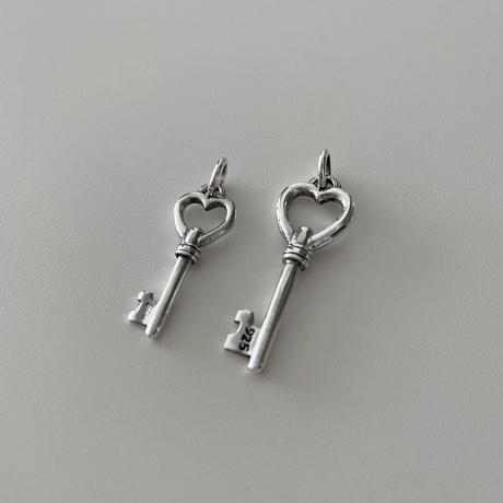 Limited Silver Heart Key Tattoo Top (S)