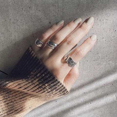 Silver Wide Pinkie Ring