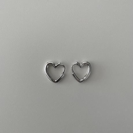 Silver Heart Hoop Pierce