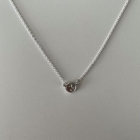 Silver yin - yang Necklace