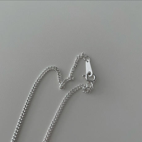Silver Flat  Necklace