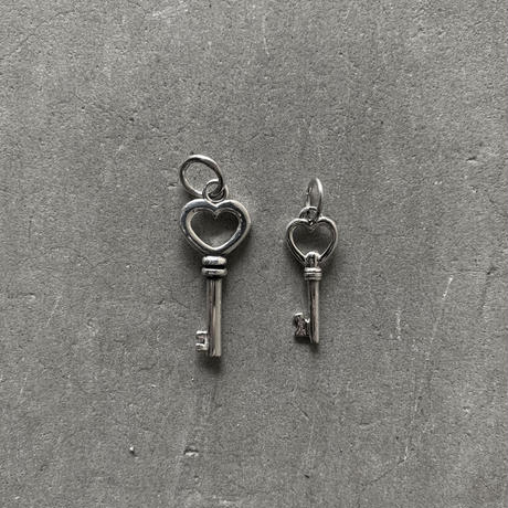 Limited Silver Heart Key  Tattoo Top (M)