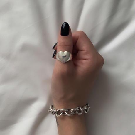 Silver Heart I Ring