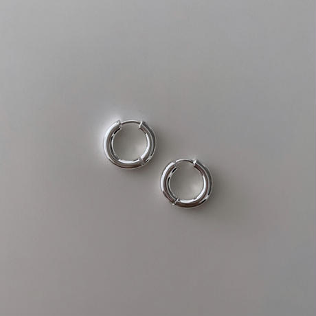 Silver Tiny Hoop Pierce