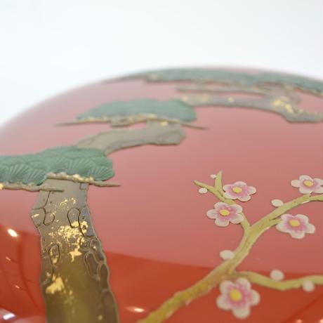 【琉球漆器】みやらび喰籠 松竹梅