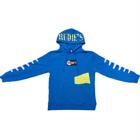 RUDIE'Sフレンチテリープルオーバーパーカー/ブルー
