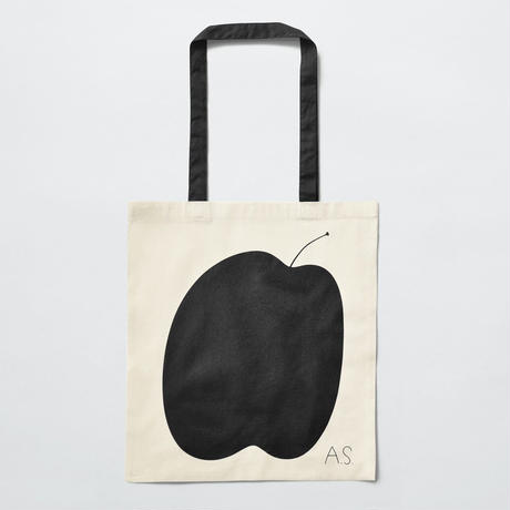 ANDREAS SAMUELSSON x BUIK ORIGINAL TOTE BAG / APPLE / BLACK
