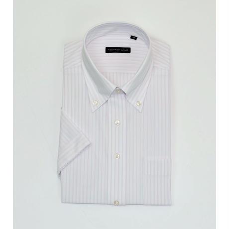 【品番DXTW01-53】【TECHNOWAVE】ノーアイロン ボタンダウンカラー 半袖ワイシャツ 【カラー】ピンク ストライプ