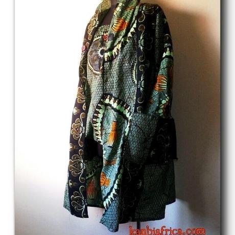 2 アフリカ布トレンチジャケット