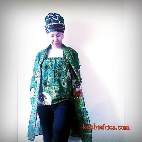 アフリカ布トレンチジャケット4