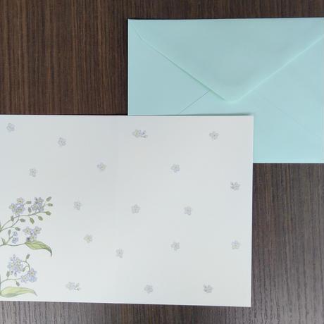 乙部なるみデザイン グリーティングカード<忘れな草>