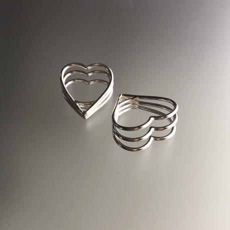 3Heart Tunnel Ring(3連)