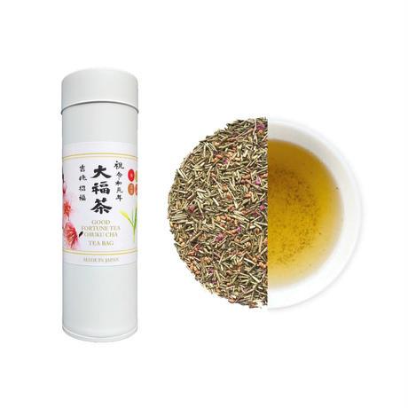 令和元年祝茶 大福茶(棒ほうじ茶)ティーバッグ(缶)