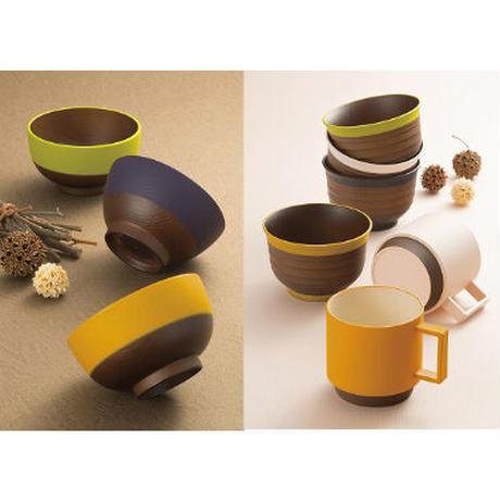 日本伝統色 塗分 茶筒 古代朱