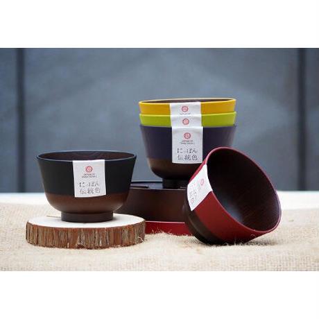 日本伝統色 羽反 塗分汁椀 漆黒