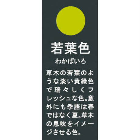 日本伝統色 プチ椀 若葉色