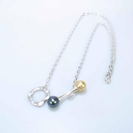 southsea Pearl pendant  black&gold