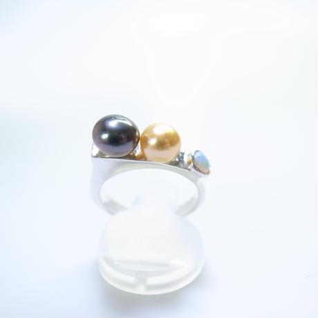 south sea pearl&opal ring