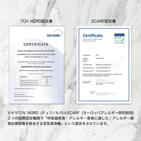 ナノドロン空気清浄機 レザーホワイト NANODRON NJ20-LWH