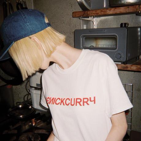 KENICKCURRY  LOGO T-SHIRT  001 (WHITE)