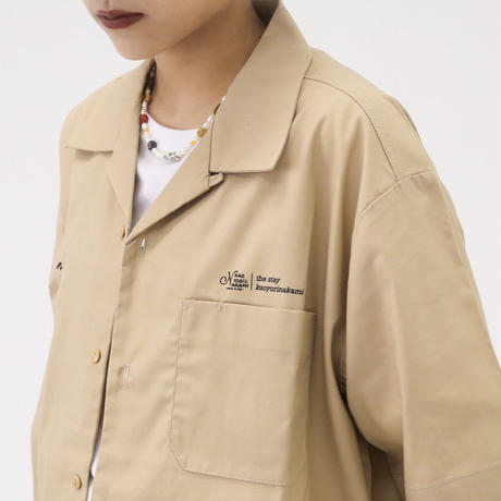A NOTHING FACE オープンカラーシャツ beige