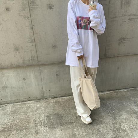 music & rétro long sleeveT-white-
