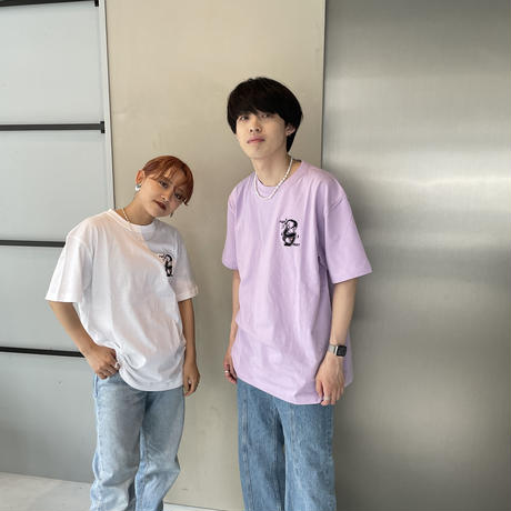 A NOTHING FACE HS TEE purple