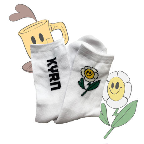 socks flower&cup