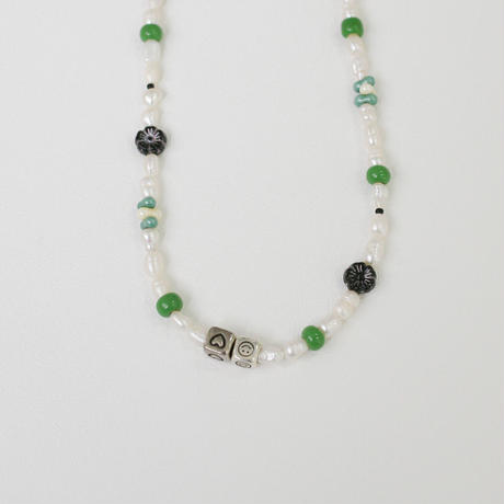 ☺︎<❤︎ beads green necklace