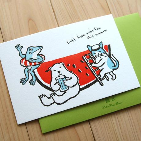 活版カード この夏を楽しもう!