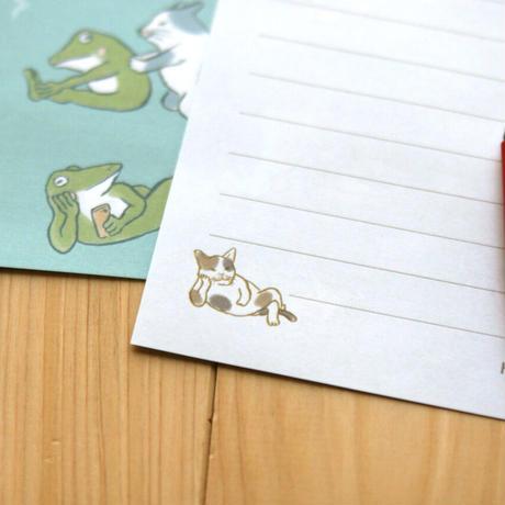 猫とカエルのレターセット
