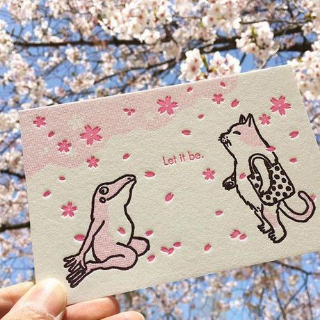 活版カード お花見