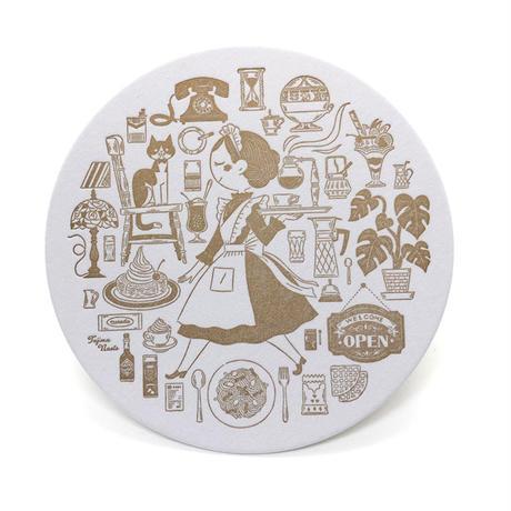 たじまなおと「珈琲と活版のあるくらし」2o20活版印刷カレンダー/白