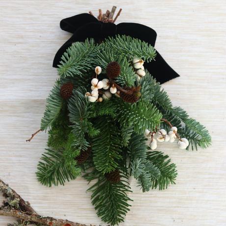 モミの木のミニクリスマス スワッグ№4
