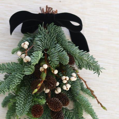 モミの木のミニクリスマス スワッグ№2