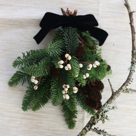モミの木のミニクリスマス スワッグ№1