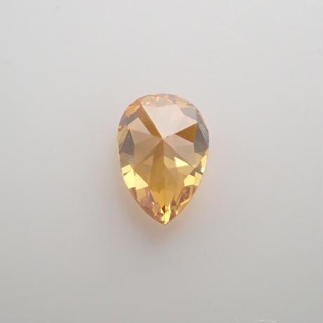 【5/11掲載】イエローダイヤモンド 0.169ctルース(FANCY DEEP BROWNISH ORANGE YELLOW, SI2)